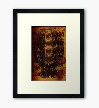 OWL PAGE Framed Print