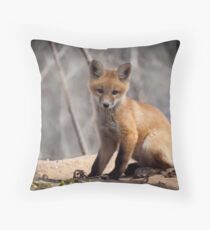 A Cute Kit Fox Portrait 1 Throw Pillow