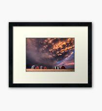 Sunset Storm Clouds Canada lightning granary Saskatchewan Framed Print