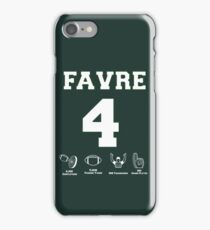 Brett Favre - Career Stats iPhone Case/Skin