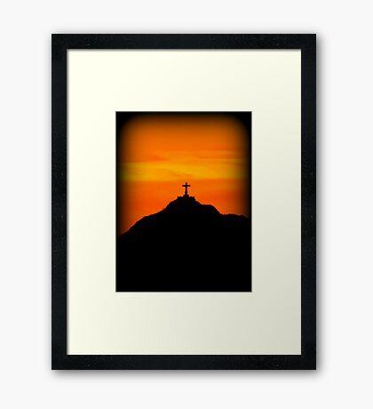 Mount Cristo Rey  Framed Print