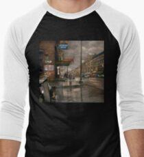 City - Amsterdam NY -  Call 666 for Taxi 1941 Men's Baseball ¾ T-Shirt
