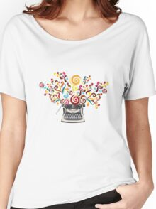 Creativity - typewriter with abstract swirls Women's Relaxed Fit T-Shirt