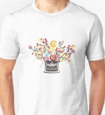 Creativity - typewriter with abstract swirls Unisex T-Shirt