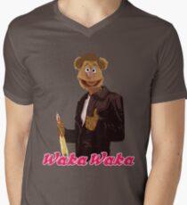 Fonzie Bear Waka Waka Men's V-Neck T-Shirt