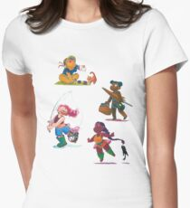 Cat adventures Womens Fitted T-Shirt