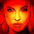 angelina jolie portrait by ralphyboy