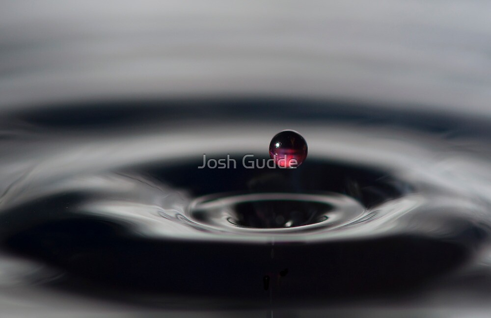 Just another water drop... by Josh Gudde