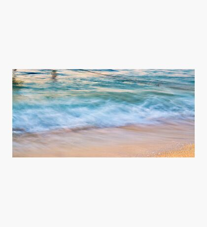 Waves meets sand Photographic Print