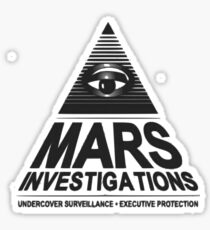 Mars investigation Sticker