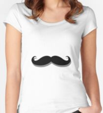 basic mustache Women's Fitted Scoop T-Shirt