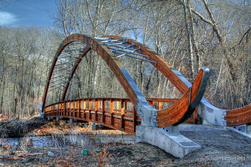 The bridge at Lion's Park by Susan Littlefield