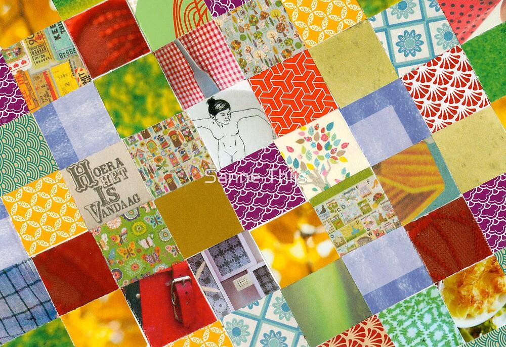 Collage greetingcard: Hoera het is vandaag!! by Sanne Thijs