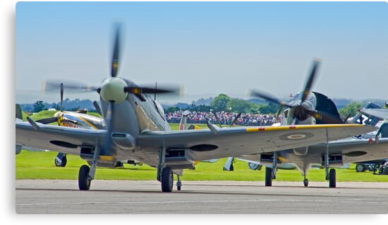 Duxford Spitfires !! by Colin  Williams Photography