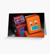 Robot chase Greeting Card