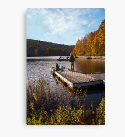 Sittin on the dock of the... lake Canvas Print