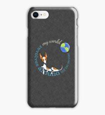 My World My Rat Terrier {dark} iPhone Case/Skin