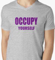 OCCUPY - yourself Men's V-Neck T-Shirt