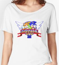 SONIC 2 TITLE SCREEN Women's Relaxed Fit T-Shirt