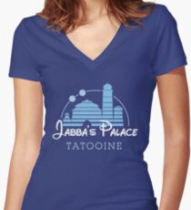 Jabba's Palace Women's Fitted V-Neck T-Shirt