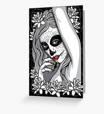 DAY OF DEAD GIRL Greeting Card