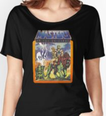 He-Man Masters of the Universe Battlecat and Teela Women's Relaxed Fit T-Shirt