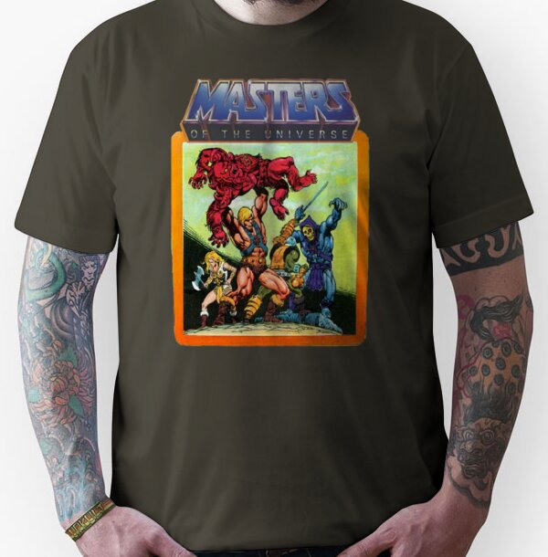 3803d152f263a0 ... Unisex He-Man Masters of the Universe Battle Scene T-shirt - S to