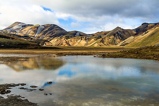 Reflections on Landmannalaugar by Silken Photography