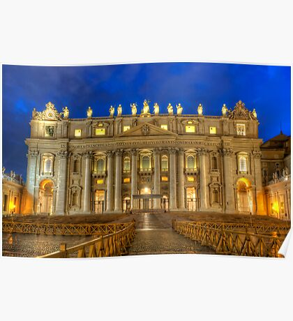 St Peter's Basilica 4.0 Blue Hour Poster