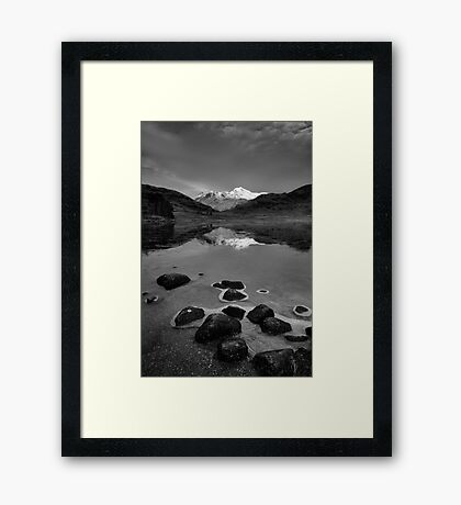 The Langdale Pikes from Blea Tarn, Lake District Framed Print