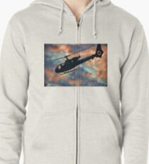 Helicopter  Zipped Hoodie