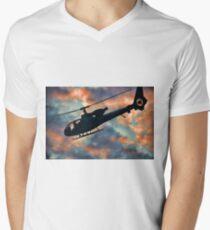 Helicopter  Men's V-Neck T-Shirt
