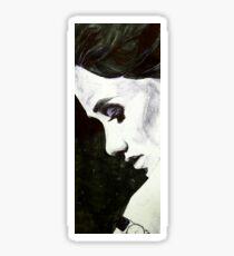 Pen/Marker Portrait #1 Sticker