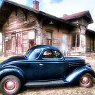 '36 Ford at the Kopperl Texas Depot by Terence Russell