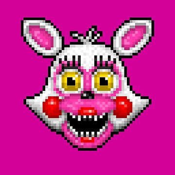 Adventure Funtime Mangle - FNAF World - Pixel Art by GEEKsomniac