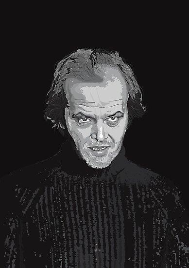Jack Nicholson (Jack Torrance) The Shining poster by Creative Spectator