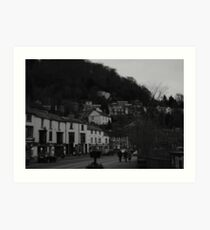 Black and white of Matlock Bath Art Print