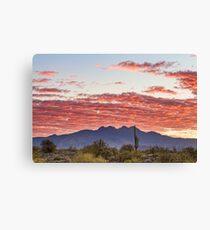 Arizona Four Peaks Mountain Colorful View Canvas Print