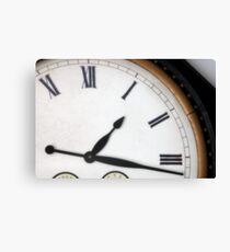Vintage Roman Numeral Clock Canvas Print