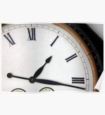Vintage Roman Numeral Clock Poster