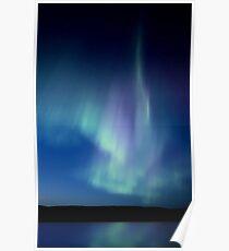 Northern Lights Saskatchewan Canada Aurora Borealis Lake Reflection Poster