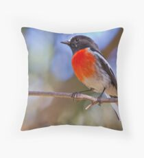 Scarlet Robin - Male Throw Pillow