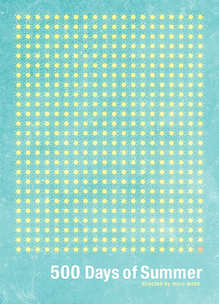 500 days of summer minimalist poster design by j ph for 500 decoration details minimalism