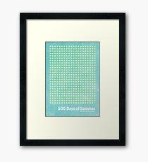 """500 Days of Summer""-minimalist poster design Framed Print"