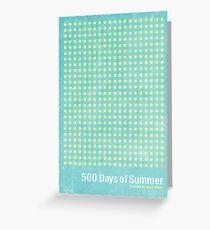 """500 Days of Summer""-minimalist poster design Greeting Card"