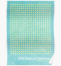 """500 Days of Summer""-minimalist poster design Poster"