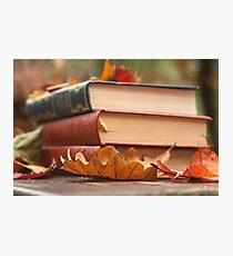 autumn reading  Photographic Print
