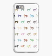 Colorful Horses Lantern Pattern  iPhone Case/Skin
