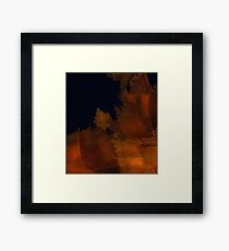 Orange patch Framed Print