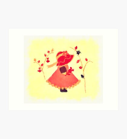 The Little Red Hat Art Print